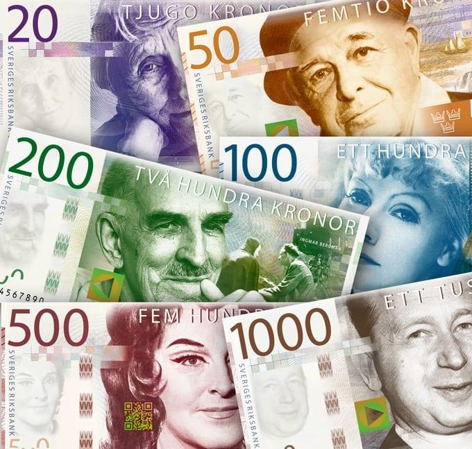 byte av svenska sedlar