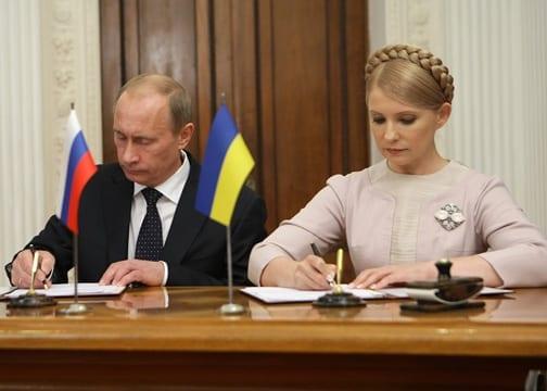 Vladimir Putin och Julia Tymosjenko. Foto: Wikimedia Commons/premier.gov.ru/CC-BY-3.0