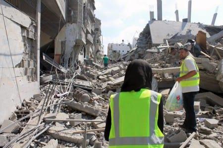 Förödelse i Gaza efter israeliska bombningar den 20 juli. Foto:  Joe Catron/CC BY-NC 2.0