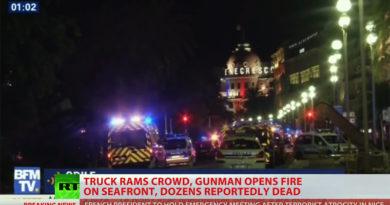 84 dödade i lastbilsattentat i Nice