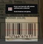 Sätt mobilkameran över varans streckkod för att skanna