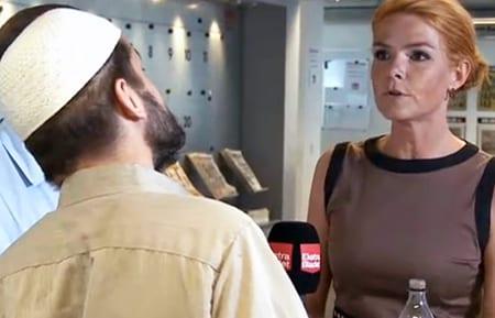 Inger Støjberg fick motta hot från Adnan Avdic. Foto: Faksimil/ekstrabladet.dk