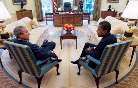 Nu har Obama lägre stöd än Bush