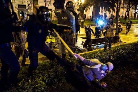 Oroligt efter spansk demonstration