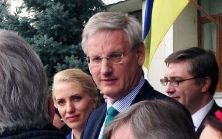 Carl Bildt i Ukraina. Foto: aleksandr.andreiko/CC BY-SA 2.0