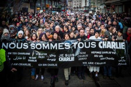 Flera sabotage mot Charlie Hebdo-minnesmärke