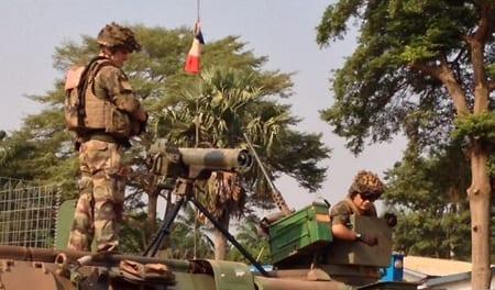 Franska soldater i Centralafrikanska republikens huvudstad Bangui. Foto: Wikimedia/Idriss Fall