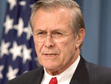 Rumsfeld erkänner: Det var orealistiskt att demokratisera Irak