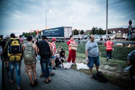 Migrantkravaller vid ungerska gränsen
