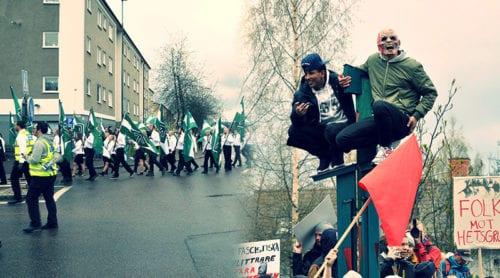 Se bilder ifrån demonstrationerna i Borlänge