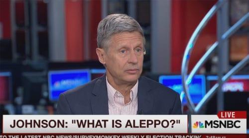 Gary Johnson: Vad är Aleppo?