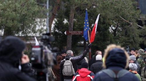 Demonstrationer mot regeringen i Polen