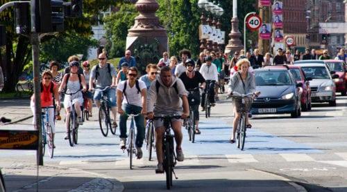 I Köpenhamn finns det fler cyklar än bilar