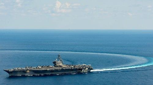 När USS George H.W. Bush vände var det slutet för USA:s planer på Krimhalvön