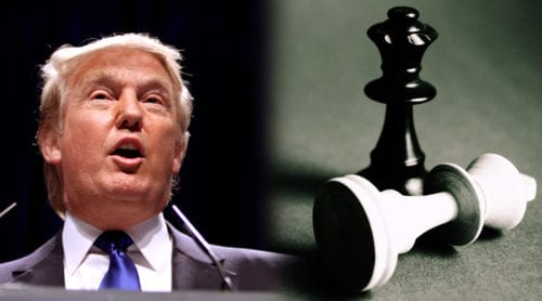 Trump: Geopolitik är som ett schackspel