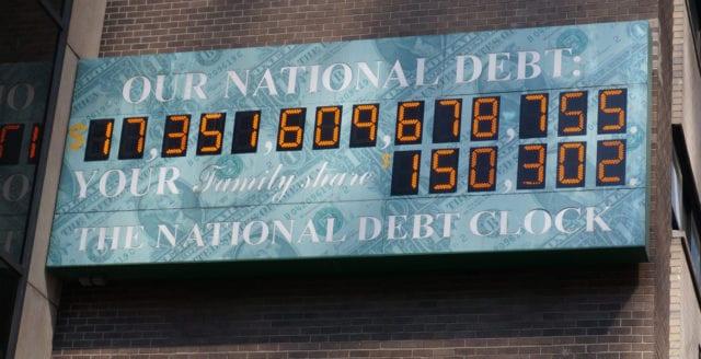 Nu är USA:s statsskuld över 20 biljoner dollar