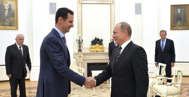 Putin fördömer Västs militära närvaro i Syrien