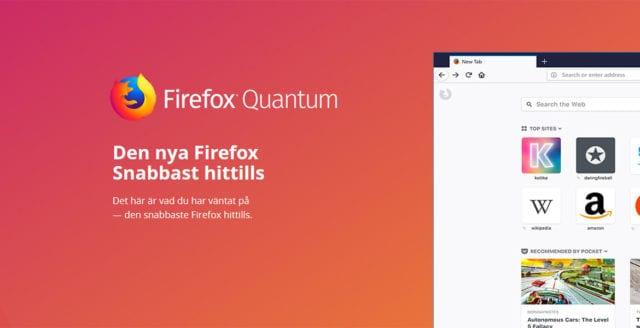Jätteuppdatering till webbläsaren Firefox släppt