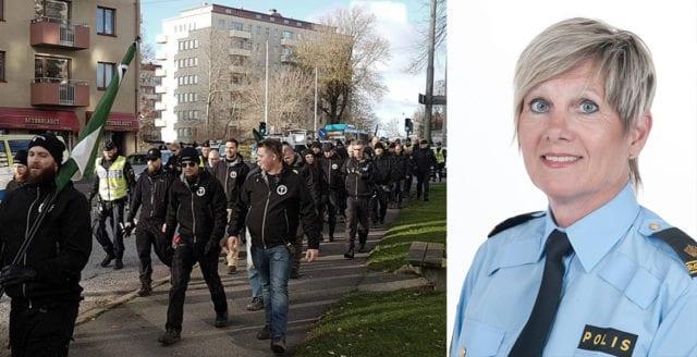 Polisen försökte stoppa pågående demonstration i Göteborg