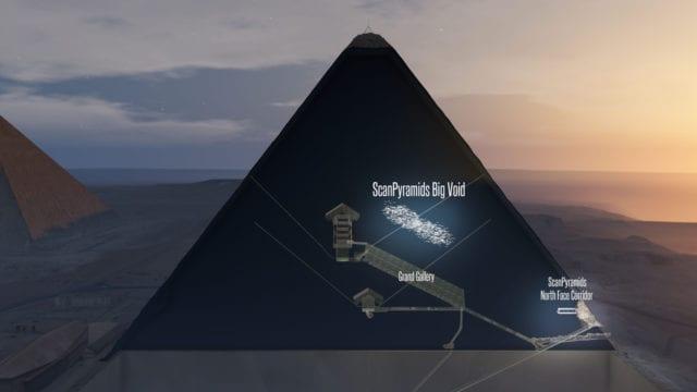 Mystiskt hålrum hittat i Cheopspyramiden