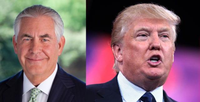 Trump avfärdar rykten om att han ska sparka Tillerson