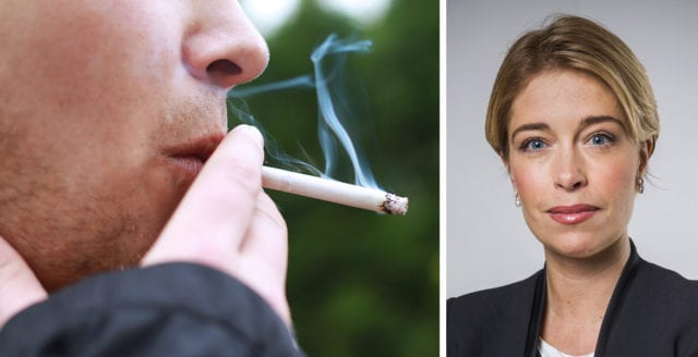 Regeringen vill förbjuda rökning på flera allmänna platser