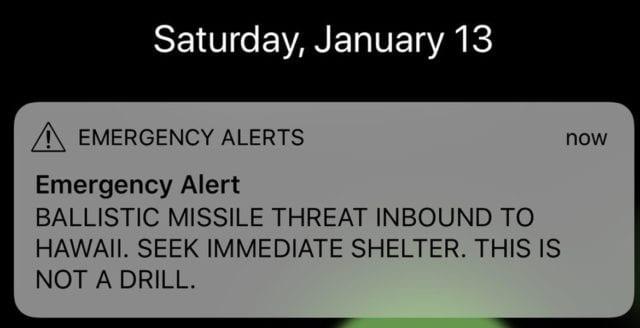 USA skickade ut falsklarm om missilangrepp på Hawaii