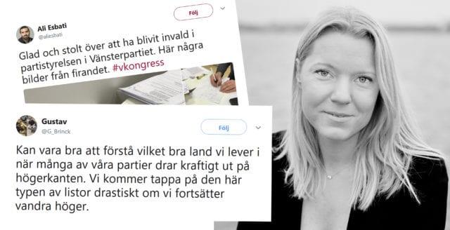 Trots förbudet – SVT:s Carina Bergfeldt gillar politiska vänsterinlägg på Twitter