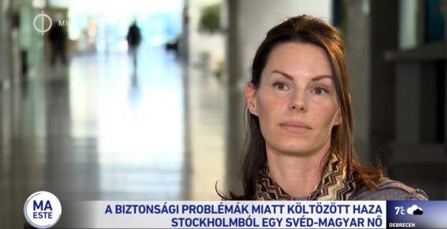 """Svenska Natalie talar ut i ungersk TV – """"Otryggheten tvingade mig att flytta utomlands"""""""