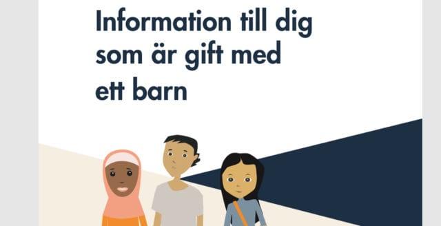 Kritikstorm mot Socialstyrelsen för broschyr till personer som är gifta med barn