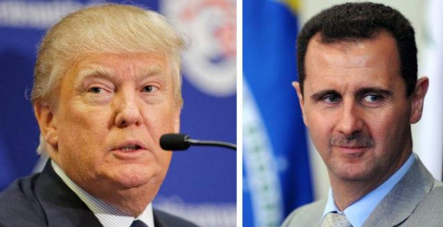 Donald Trump hotar Bashar al-Assad på Twitter