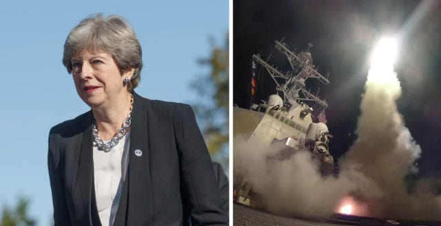 Theresa Mays makes investmentbolag tjänade miljoner på bombningen av Syrien
