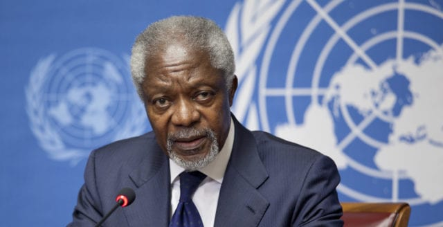 Kofi Annan är död