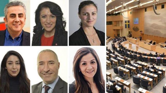 Sex kurder tar plats i Sveriges riksdag