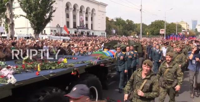 120 000 tog farväl av separatistledare i östra Ukraina