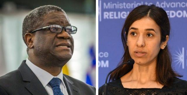 De tilldelades Nobels fredspris 2018