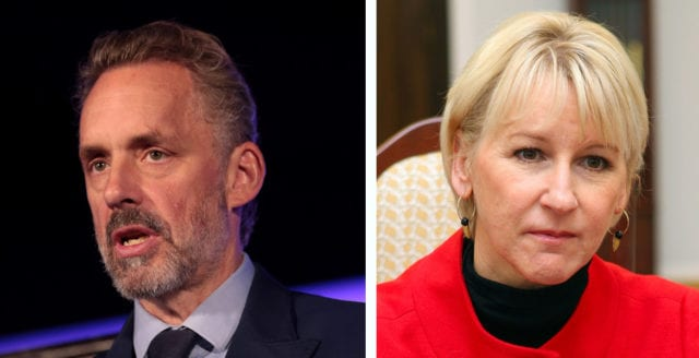 "Sweden's foreign minister says Jordan B Peterson should ""crawl back under the rock he came from"""