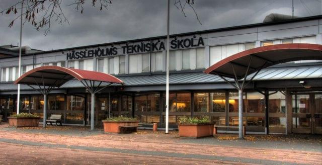 Detonation vid gymnasieskola i Hässleholm