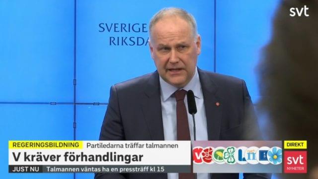Vänsterpartiet säger nej till Löfven – regeringskaoset fortsätter