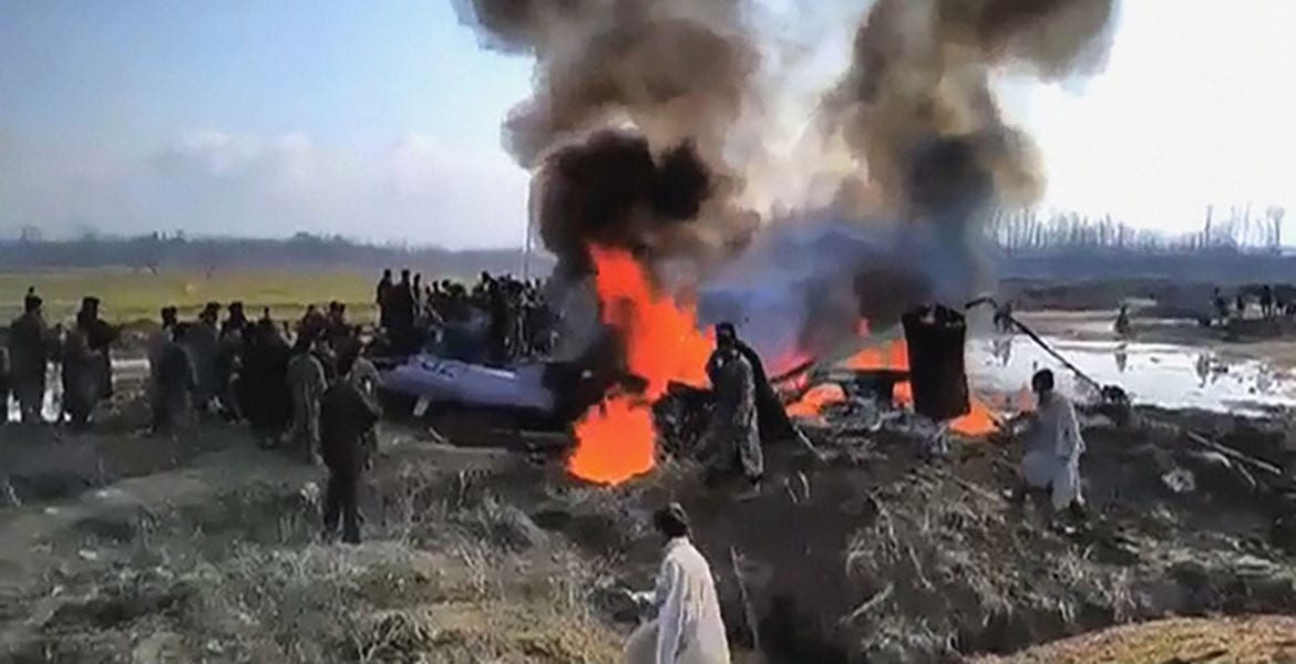 MiG-21 downed by Pakistan. Photo: Samaa TV
