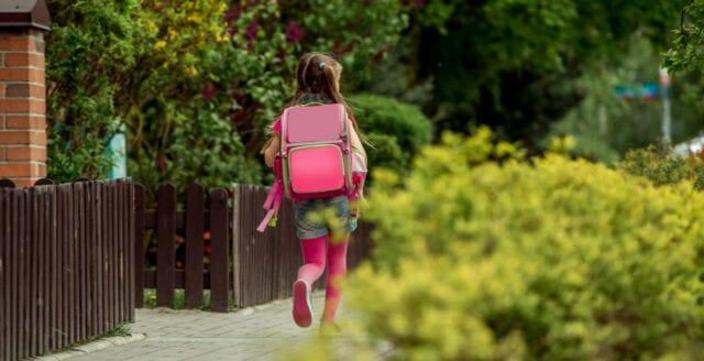 Tioårig flicka slagen och rånad