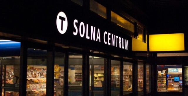 Knivhuggning och skottlossning i Solna