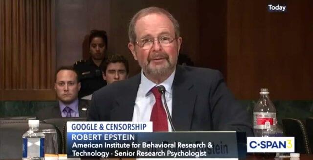 Professor Epstein: Google försökte manipulera valet