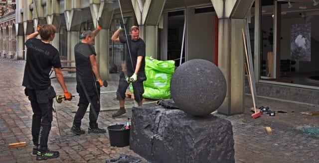Sprängning riktad mot stadshuset i Landskrona