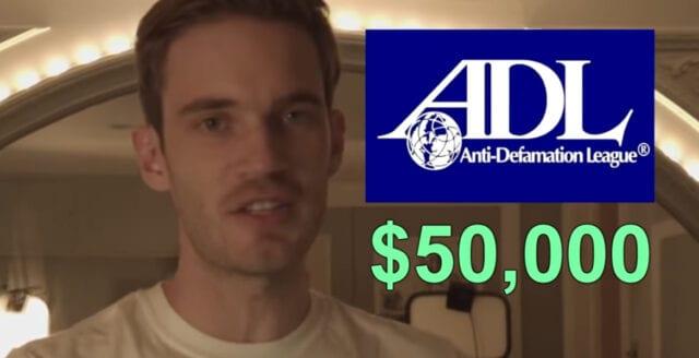 Efter kritiken – Pewdiepie avbryter donation till ADL