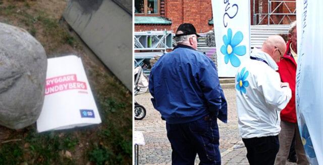 Socialdemokrat frias efter åtal om nedrivna SD-affischer