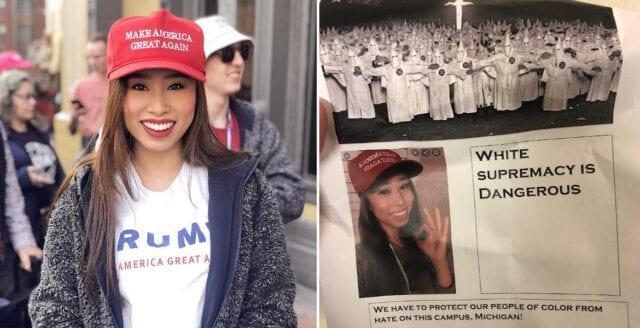 """Asiatisk student hängdes ut som """"vit rasist"""" på amerikanskt universitet"""