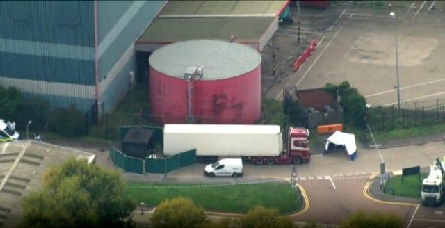 39 döda funna i lastbil i Storbritannien