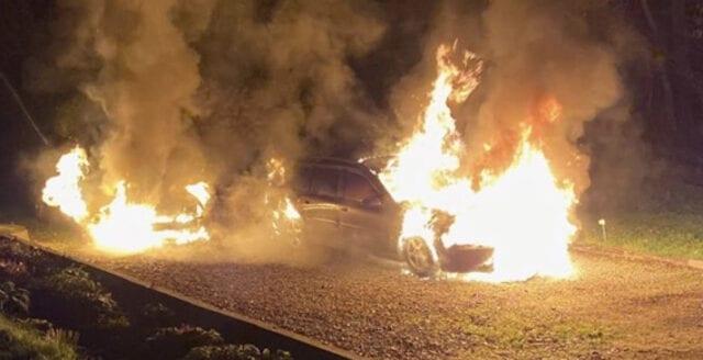 Moderat i Norrköping utsatt för mordbrand