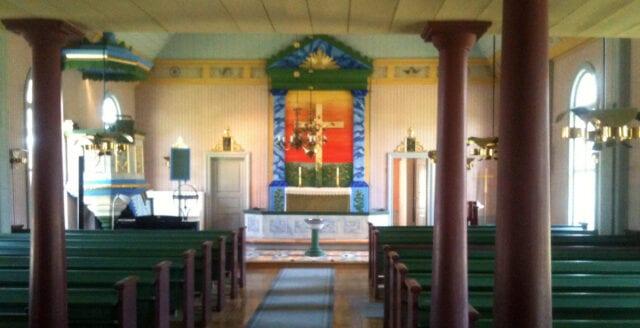Muslimska böneutrop i norrländsk kyrka